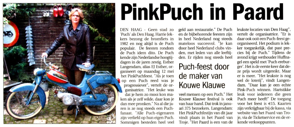 Pink Puch in Paard knipsel 2008