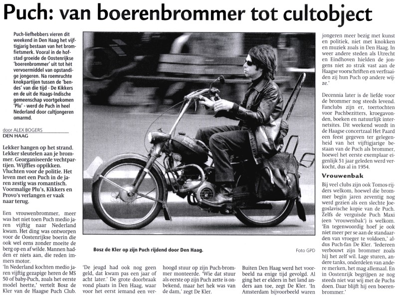 Puch: van boerenbrommer tot cultobject knipsel 2005